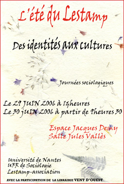 Jo�lle Deniot Jacky R�ault 2006 Invention de l'Et� du Lestamp devenu Colloque du Lieu commun des sciences sociales